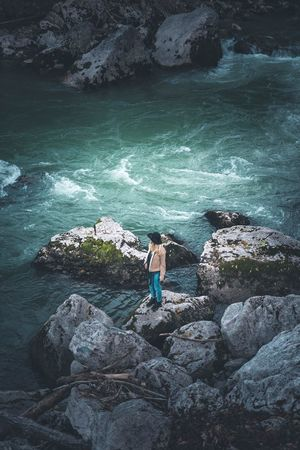 Rock - Object Full Length Water Standing Nature One Person Beauty In Nature Sea Outdoors Day Real People Scenics Men Cliff Wave Adult People Adults Only