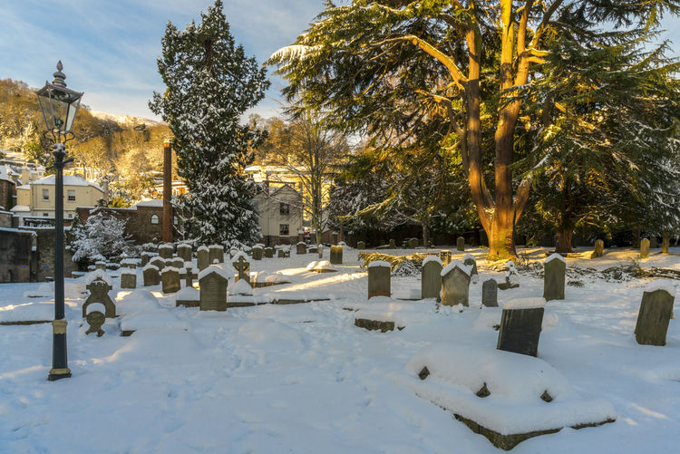 Scenes from Malvern after the early December 2017 snowfall. Britain Malvern Hills Snow ❄ Wintertime Cemetery Cold Temperature Day Nature No People Outdoors Sky Snow Snowfall Tree Uk Weather Winter Worcestershire