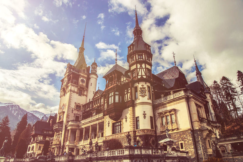 Architecture Building Exterior Built Structure Cloud - Sky Day History Low Angle View Nature No People Ornate Outdoors Peles Peles Castle Place Of Worship Religion Sky Travel Destinations