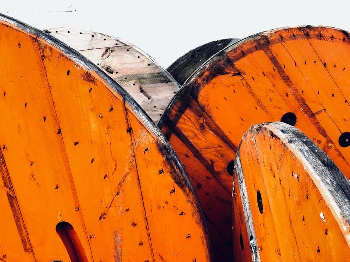 Abstract composition of orange and white colors. Orange No People Outdoors Day Nature Close-up Sky