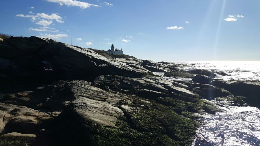 Beavertail. Landscapes Sky Outdoors Cliffs The Purist (no Edit, No Filter) No People Day Rhode Island Coastline Rock - Object Geology By The Sea Sea EyeEm Best Shots - Nature Beavertail Lighthouse Lighthouse_captures Jamestown, RI Rhode Island Photography⚓ S6 My Year My View