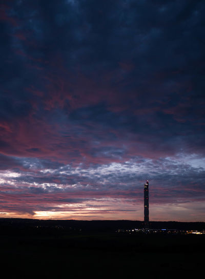 Cloudy High Rottweil Thyssen Krupp Tower Architecture Beauty In Nature Building Exterior Built Structure Cloud - Sky Dramatic Sky Landscape Lighthouse Nature Night No People Outdoors Scenics Sky Sunset Tower Tranquility Travel Destinations