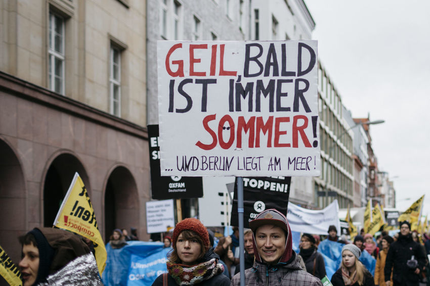 Global Climate March. Demonstration for fossil free planet! Activist  Berlin Climate Demo Demonstration Energy Fossil Free German Germany Global Climate March People Planet Renewable Energy Signs Signs_collection Street Street Photography Streetphotography Text Words