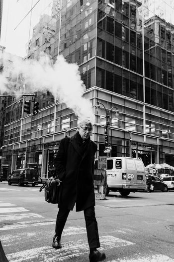 Manhattan | New York City, 2017 Black & White Burning Head Man Walking Manhattan NY NYC NYC Photography NYC Street Photography New York New York City Black And White Black And White Photography Black&white Blackandwhite Blackandwhite Photography Blackandwhitephotography Cross Road Head Burning Headshot New York Street Photography Reportage Smoking Head Street Photography Streetphoto_bw Streetphotography