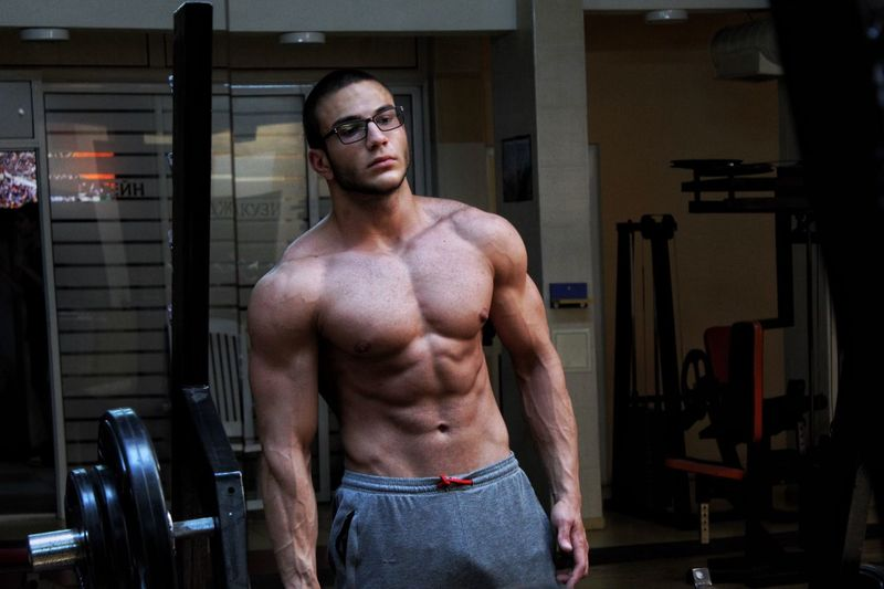 EyeEm Selects Shirtless Strength Exercising Muscular Build Healthy Lifestyle Lifestyles Athlete Young Men Sports Training Young Adult Sport Vitality Abdominal Muscle Wellbeing One Person Body Building Adult Indoors  Men Portrait