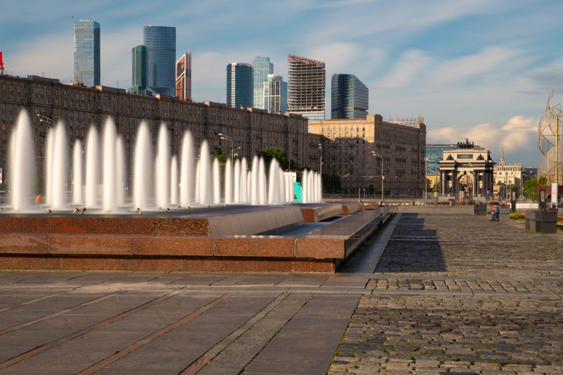 my superpower is to erase people with the long exposure.... Built Structure City City Skyline Fountain Long Exposure Moscow No People Outdoors парк победы