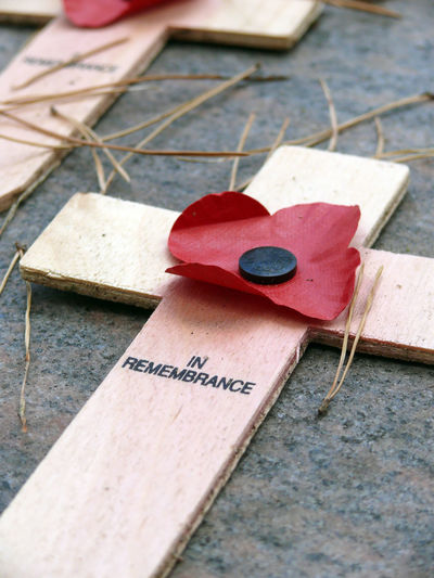 Decor on wooden cross with text