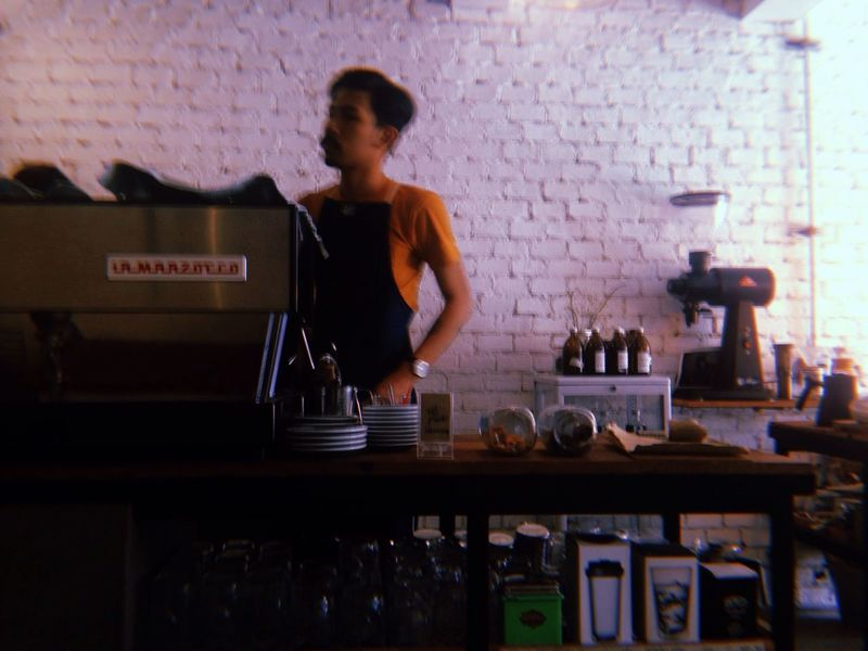 Barista Life Barista Coffee Cold Temperature Cafe Indoors  Real People One Person Occupation Preparation  Standing Skill