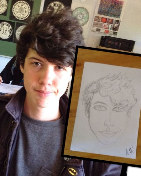 Quick Sketch Pencil Portrait Art