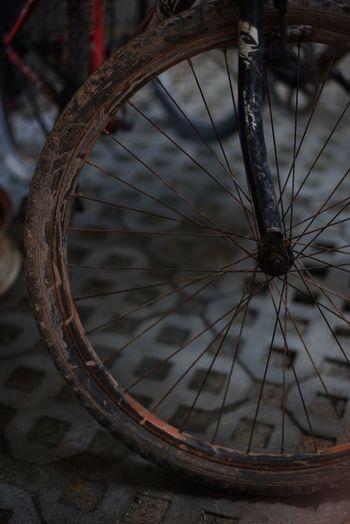 Wheel Transportation Bicycle Spoke Mode Of Transport Land Vehicle No People Stationary Vehicle Part Close-up Wagon Wheel Tire Day The Street Photographer - 2017 EyeEm Awards EyeEmNewHere