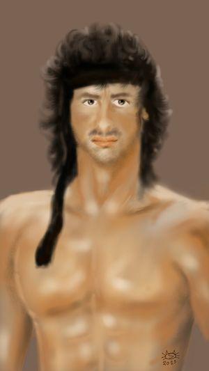 Sylvesterstallone Digital Art Digital Painting Digital Drawing Art, Artwork & Sketch Digitalart  Digitalpainting Celebrity Rambo Art