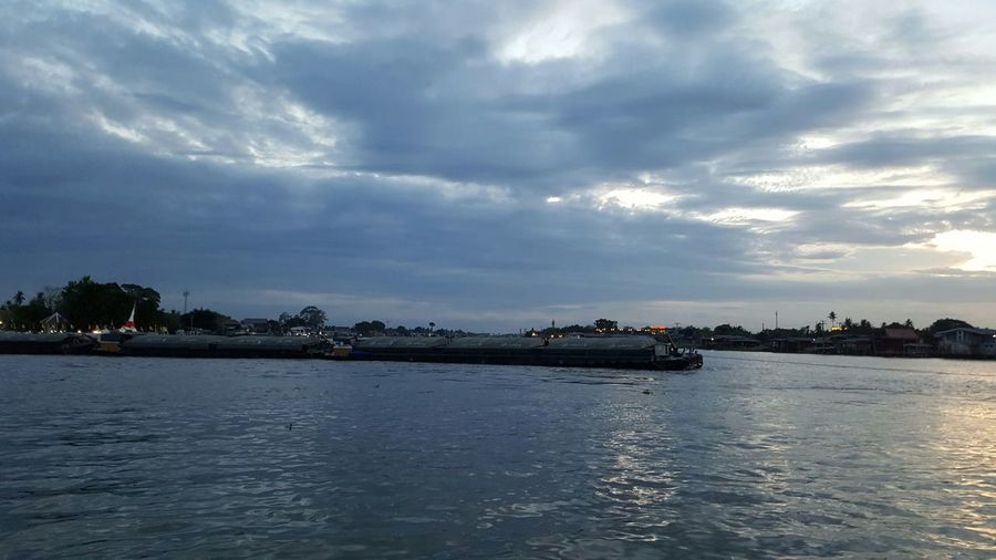 Tranquility Cloudy Waterfront Water Cloud - Sky Tranquil Scene Scenics Calm No People Seascape Dramatic Sky Ocean Sky Rippled Nature Beauty In Nature Sea Day Outdoors Non-urban Scene Collection Thailand EyeEm Team Thailand Photos Ko Kret