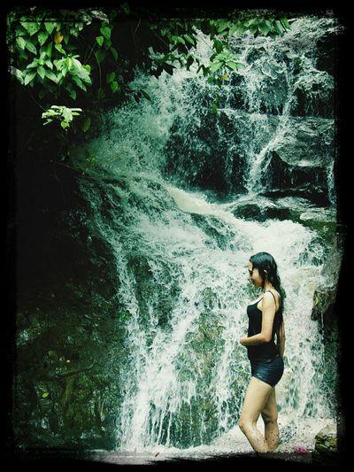 Waterfall Relaxing Swimming Escaping Jungle Inn