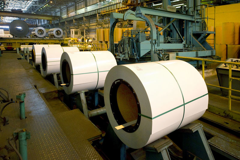 Rolled Up Sheet Steel In Industry