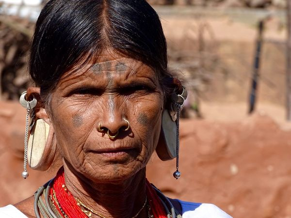 Close-up Day Focus On Foreground Head Lobe With Wide Hole One Person Outdoors Portrait Real People Tribal Women Women With Strange Earrings