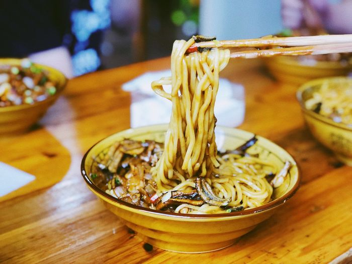 干挑面 Noodles Indoors  Table Focus On Foreground Close-up Food Food And Drink Still Life First Eyeem Photo