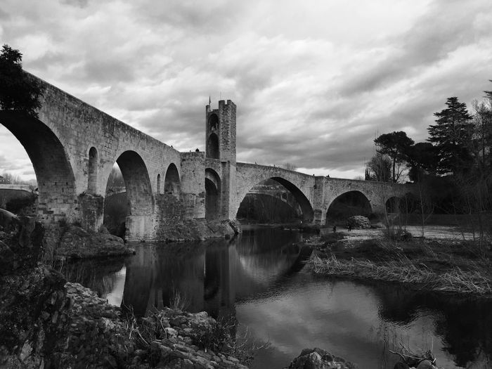 Bw_collection Bw_lover Blackandwhite Catalunya Besalú Bridge Bw_ Collection Enjoying Life Water_collection