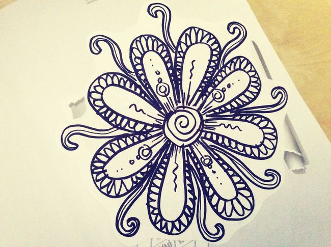 Drawing flower Nothin' hard just flower ... Sad