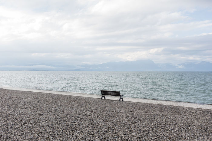 Beach Beauty In Nature Chair Cloud - Sky Day Horizon Over Water Nature No People Outdoors Relaxation Scenics Sea Sky Tranquil Scene Tranquility Water