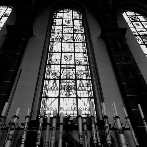 Glasinlood Kerk Blackandwhite