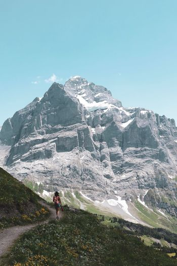 Hike in the Alps Hike Trail Mountains Nature Adventure Outdooors Dreams Landscape Alps