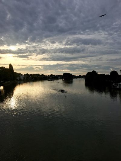 Kew bridge views Sunrise Rowing Sky Water Cloud - Sky Nature Reflection Scenics - Nature Beauty In Nature Tranquility Outdoors Tree