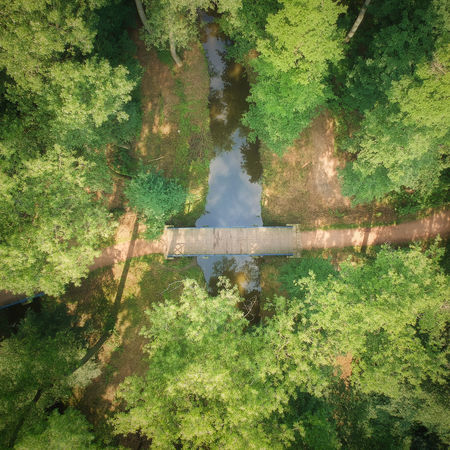Drone  Beauty In Nature Bridge Day Dronephotography Green Color No People Outdoors Tree Water