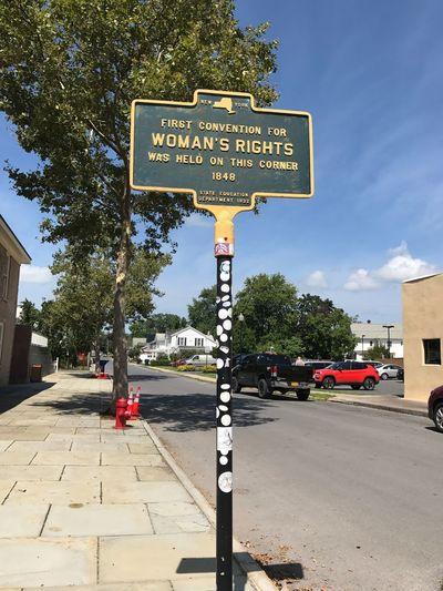 Where women's right to vote began ...