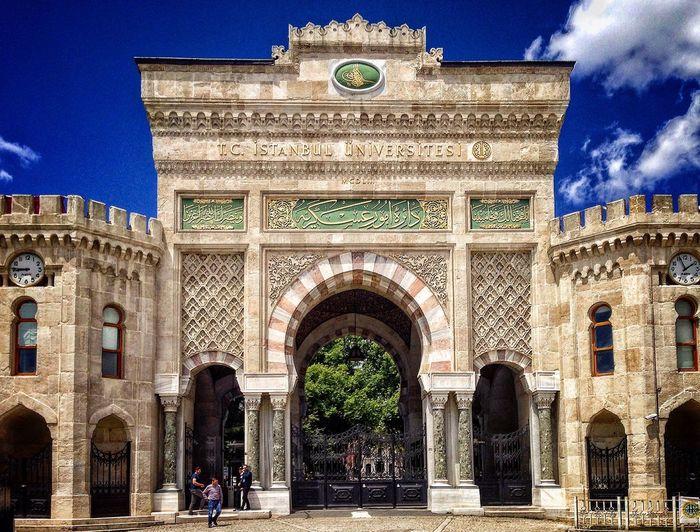 İstanbul Üniversite ana giriş kapısı.. İstanbul Üniversitesi Historic Gate Ottoman Empire Architecture