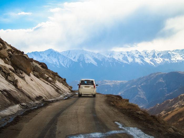 High street, on landscape of lah ladakh