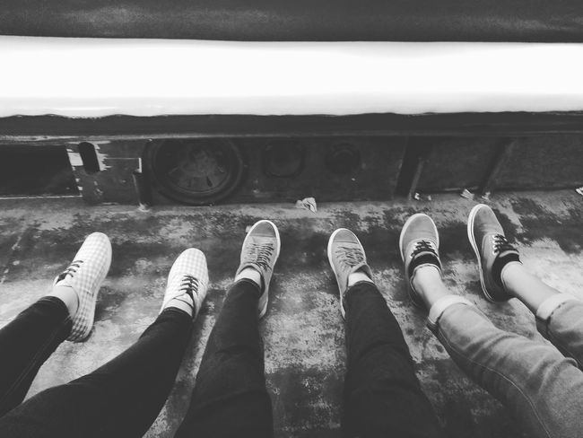 Real People Personal Perspective Outdoors Lifestyles Tired Jeepney Ride JeepneyMoments Jeepney Passengers. Blackandwhite Photography Sneakers Human Leg Friends ❤ Day Tiringday Drained Jeepney Memories ❤ CollegeLife🙌