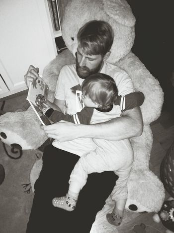 Two People Togetherness Home Interior Bonding Child Childhood Fun Reading Love My Family Love My Nephew Alexander Little Boy January 2017 Sepia Monochrome