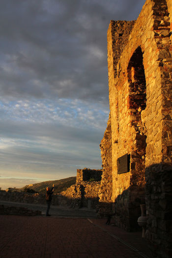 Ancient Ancient Civilization Architectural Column Architecture Building Building Exterior Built Structure Cloud - Sky Devin Castle Evening Sky Golden Hour Photography History Old Old Ruin Outdoors Place Of Worship Religion Sky Stone Wall Sunset The Past Tourism Travel Travel Destinations Walls