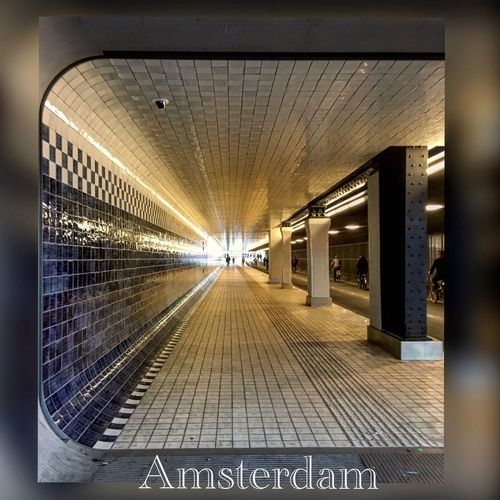 Underpass Built Structure Architecture Seramic Underpass Perspective Amsterdamcentraal Amsterdam