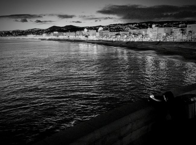 B&w Street Photography B&w Night Lights Nice / Nizza Promenade Des Anglais Stalking EyeEm Gallery Sky And Clouds Landscape Landscape_photography