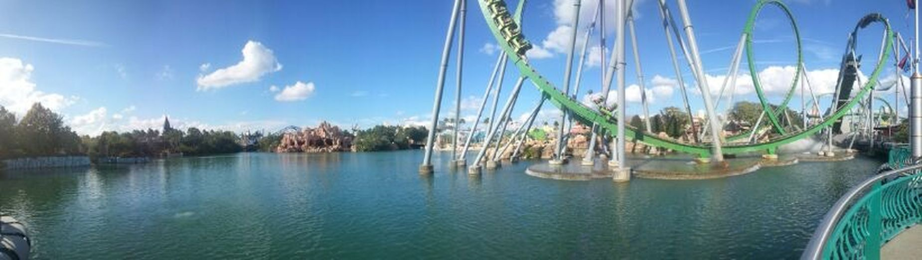 The EyeEm Facebook Cover Challenge Island Of Adventure Clouds And Sky Universal Studios  Hulk Roller Coaster Rollercoaster