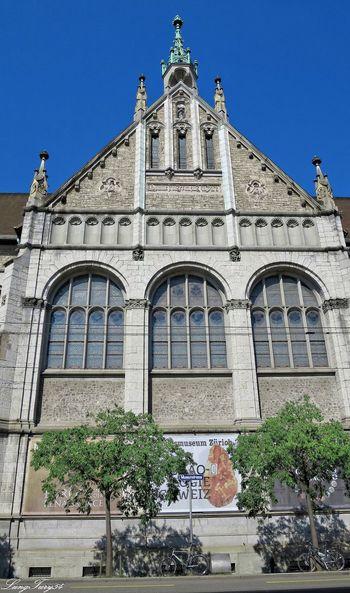 Landesmuseum Architectural Feature Architecture Building Exterior Built Structure Façade Landesmuseum Zürich Low Angle View Outdoors Schweiz Switzerland Zürich