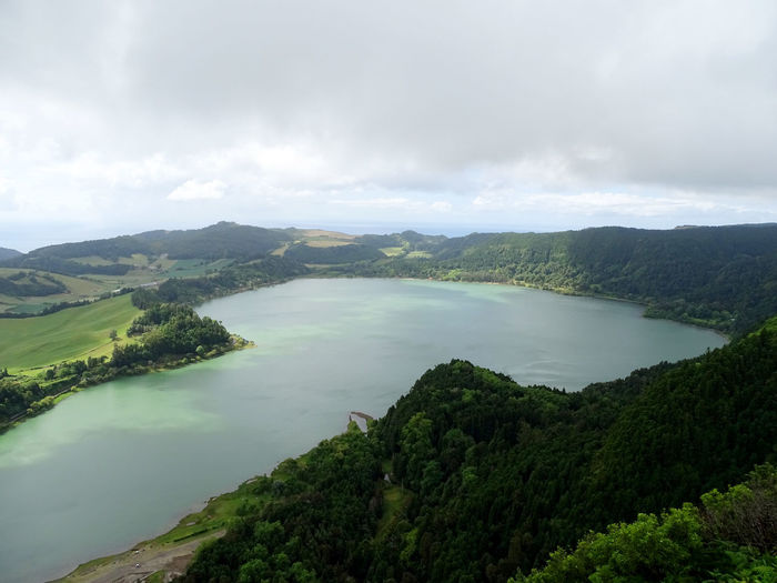 Azores Tree Water Lake Rural Scene Sky Landscape Tranquil Scene Tranquility Idyllic Countryside