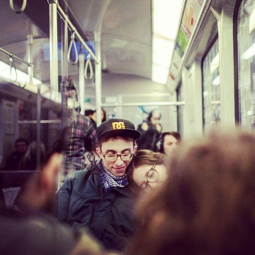 Germany Berlin Weinmeisterstraße Mitte U8 Ubahn Underground Subway Publictransportation Publictransport Tuesday Closeup Portrait Street Tired Cuddleing Couple