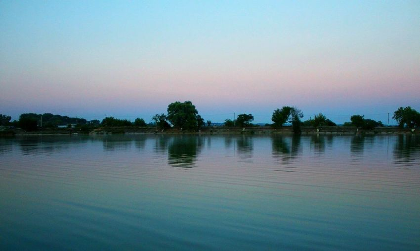 Landscape Evening Sunset Lake Water Wawes Sky Beautiful Photo Canon