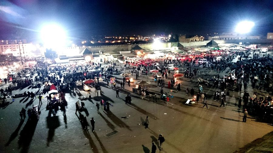 Morocco Meknès Lahdim Square Streetperformers Night Pepole XperiaZ3compact