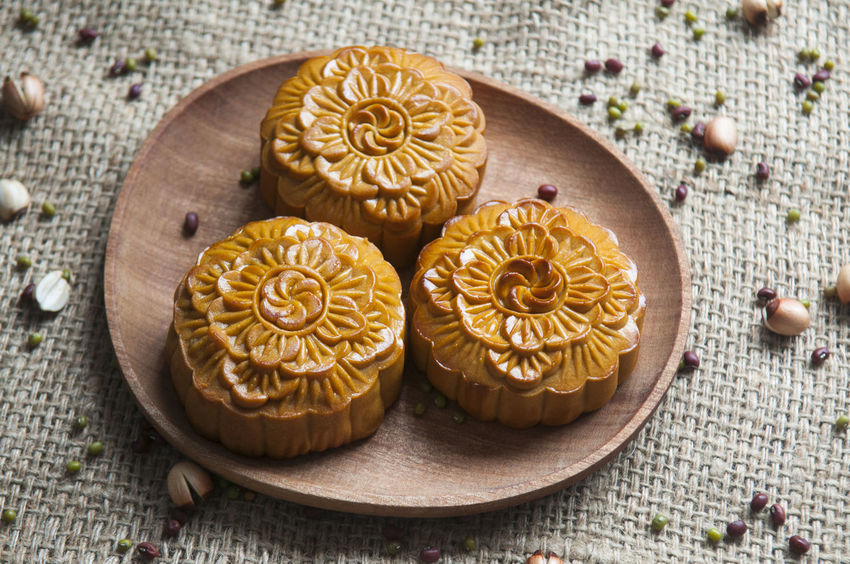 Traditional moon cakes to celebrate mid autumn festival Singapore Taiwan Vietnam China Chinese Close-up Food Food And Drink Freshness Mid Autumn Festival Moon Cakes No People Still Life Traditional