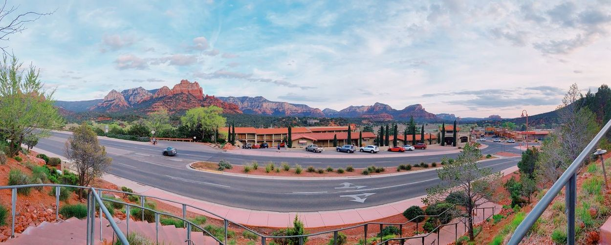 Sedona Sky Built Structure Architecture Cloud - Sky Group Of People Nature Crowd Panoramic Tree Outdoors Real People Large Group Of People Building Exterior Incidental People Day Mountain Lifestyles City Building Plant