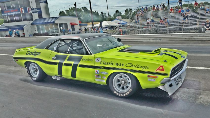 Vintage Stock Cars at Portland International Raceway Racing Racecar Racetrack Raceway Stockcar  Dodge Challenger Dodge