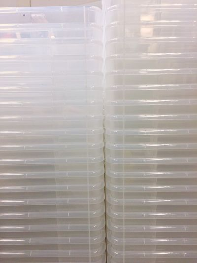 Plastic Plastic Box Box Pattern Indoors  In A Row Full Frame Backgrounds Close-up No People Freshness Day