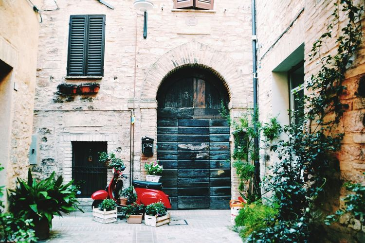 50 special 50special Vespa Window Box Chair Door Architecture Building Exterior Built Structure Closed Door Arch Residential Structure