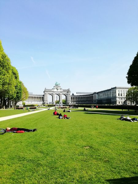 Brussels Brussels❤️ Park Parc Du Cinquantenaire Jubelpark Cinquantenaire Travel Destinations Architecture Sky Outdoors Day City Grass