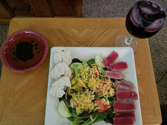 Ahi Tuna Salad SeafoodLover Red Wine Fig Dipping Sauce Eyemphotography No People