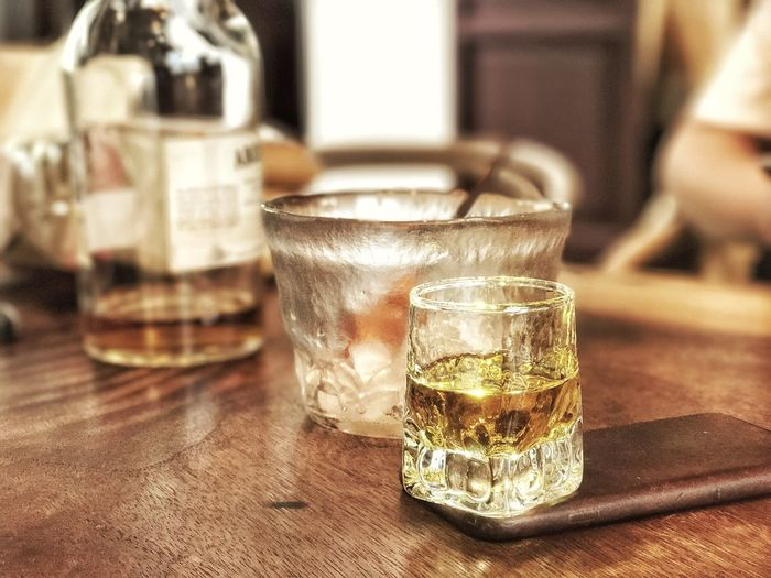 Drink Drinking Glass Table Food And Drink Indoors  Refreshment Alcohol No People Focus On Foreground Shot Glass Close-up Whiskey Day Freshness Tequila - Drink Liqueur