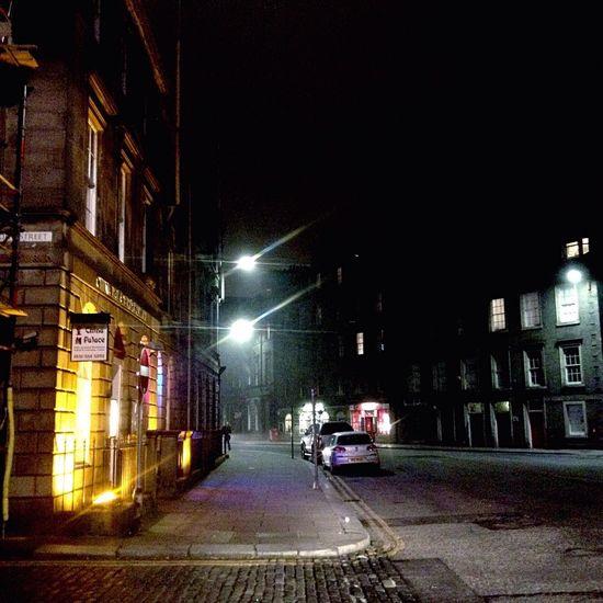 Empty street and lights Taking Photos City Streetphotography Light Lights In The Dark Night Owl Darkness And Light Edinburgh Scotland Uk At Night First Eyeem Photo